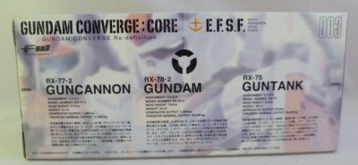 画像2: FW GUNDAM CONVERGE:CORE 連邦軍セット(ガンダムコンバージ) 003