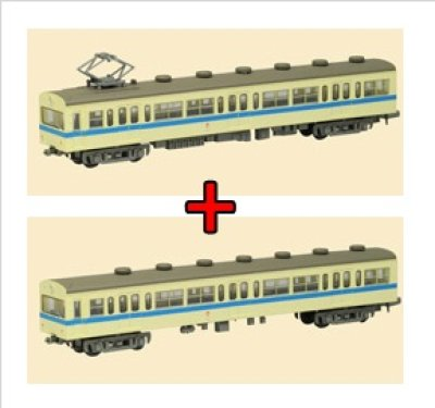画像1: Nゲージ(1/150) 鉄道コレクション 第7弾 一畑電車 デハ80形+クハ180形 セット