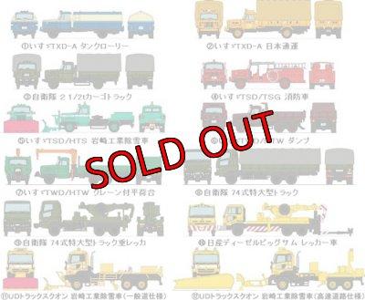画像2: Nゲージ(1/150) トラックコレクション 8弾 いすゞTSD/HTS 岩崎工業除雪車
