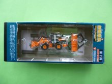 他の写真1: Nゲージ(1/150) Nジオコレ 特殊車両 日立建機 ZW150 ホイールローダ 橙(標準色) 外箱なし