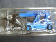 他の写真1: Nゲージ(1/150) ザ・建機 第3弾 45t リーチスタッカー MR450 TCM株式会社(青色)